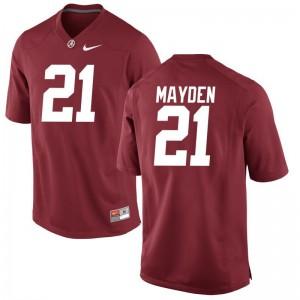 University of Alabama Mens Red Limited Jared Mayden Jersey