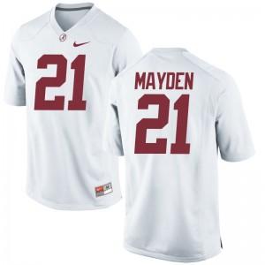 Jared Mayden Alabama Crimson Tide Jerseys Limited Mens - White