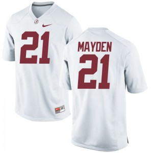 Bama Jerseys XXX Large of Jared Mayden Limited Mens - White