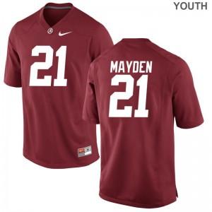 Alabama Crimson Tide Jared Mayden Limited Jerseys Red Youth