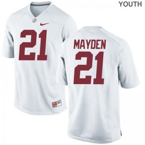 Limited Jared Mayden Jersey Small For Kids Bama - White