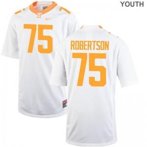 Jashon Robertson Vols Kids Limited Jerseys Large - White