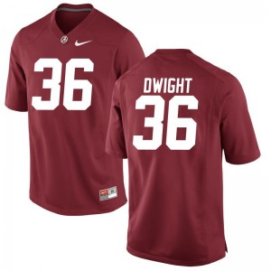 Limited Johnny Dwight Jersey Large Bama Youth Red