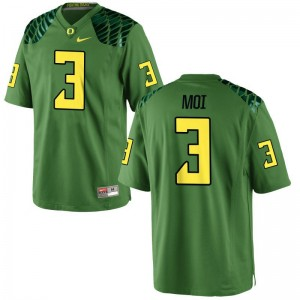 Oregon Ducks Jonah Moi Jerseys X Large Apple Green Limited Youth