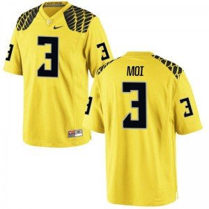 Jonah Moi Oregon Ducks Jerseys X Large Gold For Kids Limited