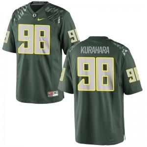 Oregon Ducks Jordan Kurahara For Men Limited Green Football Jersey
