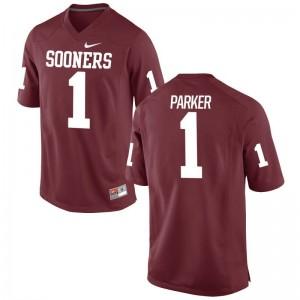 Sooners Jordan Parker Jerseys Men Medium Limited Men Jerseys Men Medium - Crimson