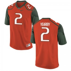 Miami Hurricanes Jersey Small of Joseph Yearby Limited Men - Orange