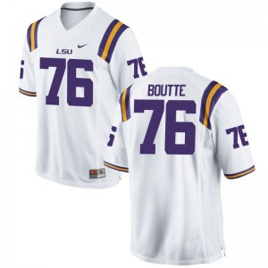 Louisiana State Tigers Josh Boutte Jersey Youth Large Limited White Youth