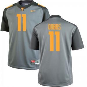 For Men Limited Tennessee Vols Jerseys 2XL of Joshua Dobbs - Gray