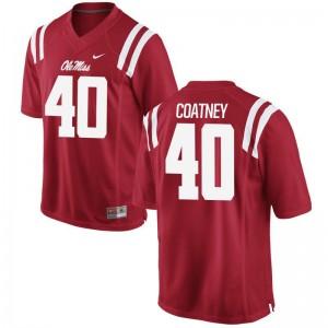 Josiah Coatney Ole Miss Jerseys Men Limited Red