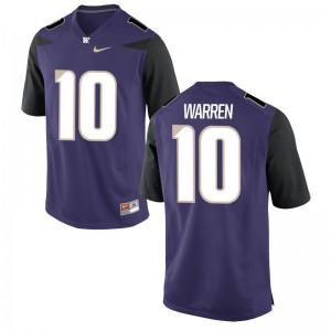 Men Jusstis Warren Jerseys Purple Limited UW Huskies Jerseys