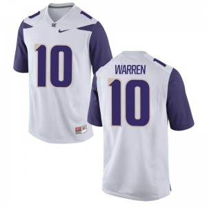 Mens Jusstis Warren Jerseys White Limited UW Huskies Jerseys