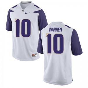 Washington NCAA Jusstis Warren Limited Jersey White Kids