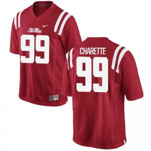 Justin Charette Jerseys X Large University of Mississippi Limited Youth(Kids) - Red