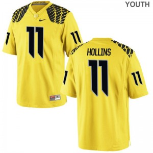 Justin Hollins Youth(Kids) Jersey Medium Limited Gold Ducks