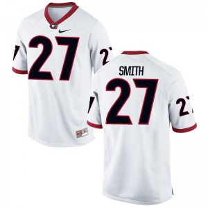Georgia KJ Smith Jerseys S-XL White Kids Limited