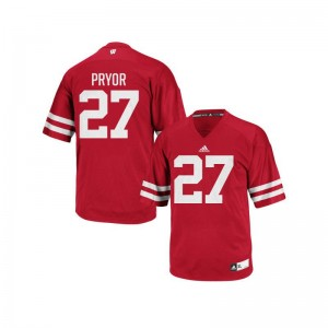 Kendric Pryor University of Wisconsin For Men Authentic Jersey - Red