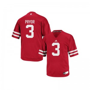 University of Wisconsin Kendric Pryor Jerseys X Large Replica Red Mens