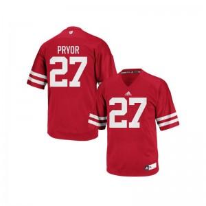 Wisconsin Badgers Kendric Pryor For Kids Authentic Jerseys Medium - Red
