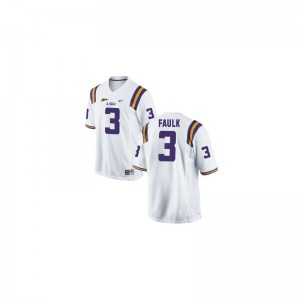 LSU Kevin Faulk For Men Limited Embroidery Jerseys White