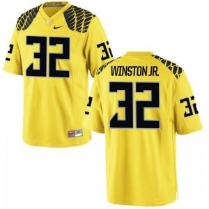 For Men La'Mar Winston Jr. Jersey University of Oregon Limited - Gold
