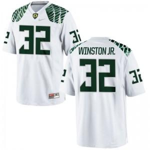 Mens La'Mar Winston Jr. Jerseys White Limited University of Oregon Jerseys