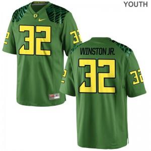 Kids La'Mar Winston Jr. Jersey Youth Small Oregon Ducks Limited Apple Green