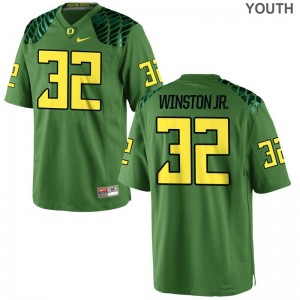 La'Mar Winston Jr. Ducks Jersey Youth Small Apple Green Youth Limited