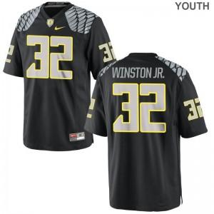 Youth X Large University of Oregon La'Mar Winston Jr. Jersey Youth(Kids) Limited Black Jersey