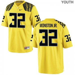 Ducks High School La'Mar Winston Jr. Limited Jersey Gold For Kids