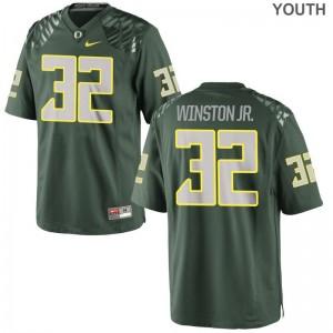 La'Mar Winston Jr. Oregon Jersey Youth XL Green Limited Youth(Kids)