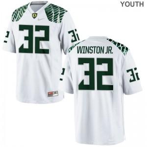 La'Mar Winston Jr. Youth Jerseys Youth Medium Ducks White Limited