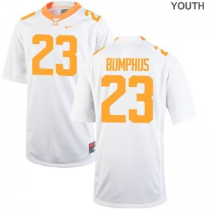 LaTrell Bumphus Vols Jersey Youth Large Youth Limited Jersey Youth Large - White