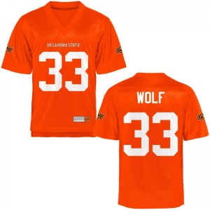 OK State Landon Wolf Jersey Men XXL Limited Mens - Orange