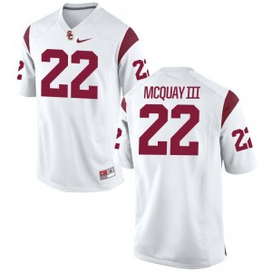 Limited Leon McQuay III Jerseys Youth Large USC For Kids - White