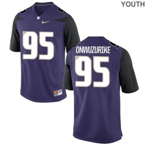 Levi Onwuzurike Washington For Kids Limited Jersey Medium - Purple
