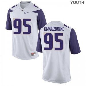 Washington Levi Onwuzurike Jerseys Large Limited White Kids