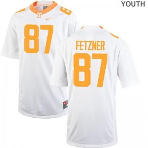 For Kids Limited Vols Jerseys Large Logan Fetzner - White