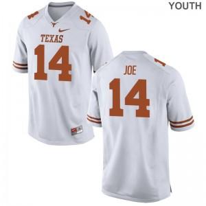Texas Longhorns Limited For Kids Lorenzo Joe Jerseys Youth Medium - White
