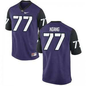 TCU Jerseys 3XL Lucas Niang Men Limited - Purple Black