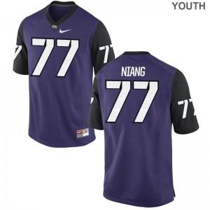 Texas Christian University Lucas Niang Jerseys Medium Limited Youth(Kids) - Purple Black