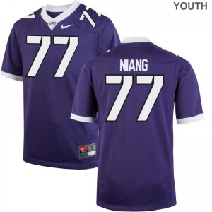Lucas Niang Texas Christian Jersey XL Youth(Kids) Limited Purple