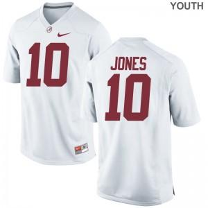 Mac Jones Jerseys University of Alabama White Limited Youth(Kids) Football Jerseys