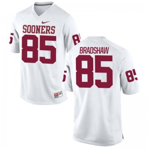 Malik Bradshaw Limited Jersey Youth(Kids) Player Oklahoma Sooners White Jersey