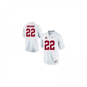 Mark Ingram Jerseys Large Youth(Kids) Alabama Limited White