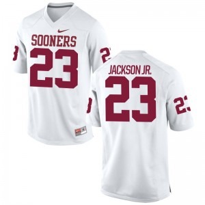 OU Limited Youth Mark Jackson Jr. Jerseys Youth Medium - White