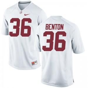 Alabama Crimson Tide Markail Benton Jerseys Men XL Mens Limited White