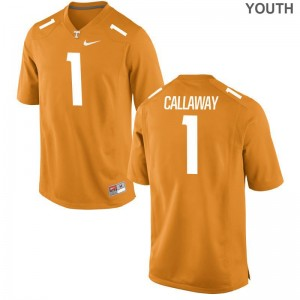 Limited Youth(Kids) Vols Jersey Large of Marquez Callaway - Orange