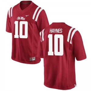 Red Marquis Haynes Jersey Small University of Mississippi Youth Limited